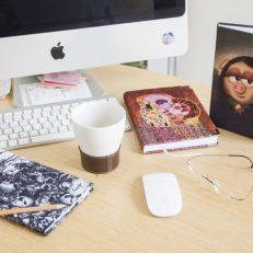 Текстильные ежедневники для Продюсерского центра «Рики»
