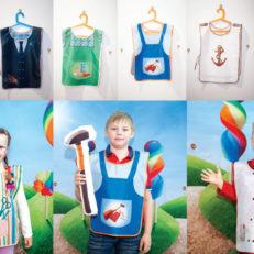 Детские фартуки для рисования