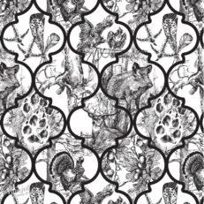 Коллекция принтов и паттернов для текстиля «Охота»