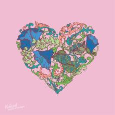 Коллекция принтов и паттернов для текстиля «Сердце»