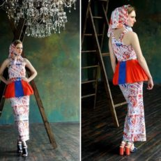 Printing on fabric for Daria Smirnova