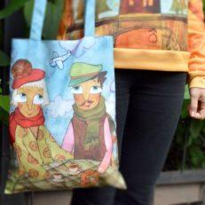 Свитшоты и сумки для художника Наны Деменковой