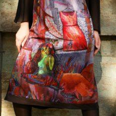 Печать на ткани для иллюстратора Марты Журавской