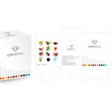 Дизайн упаковки для бренда Crystal