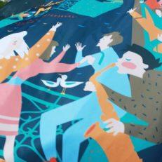 Печать флагов для фестиваля «Ленинградские мосты»