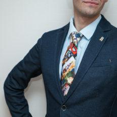 Печать на галстуке