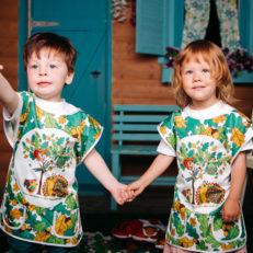 Печать на ткани Фартук для рисования в СПб и Москве