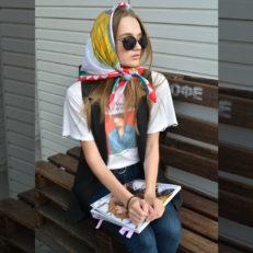 Платки для дизайнера Полины Андреевой
