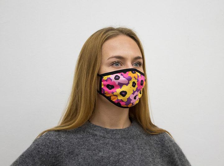 Защитная многоразовая маска для лица - однослойная