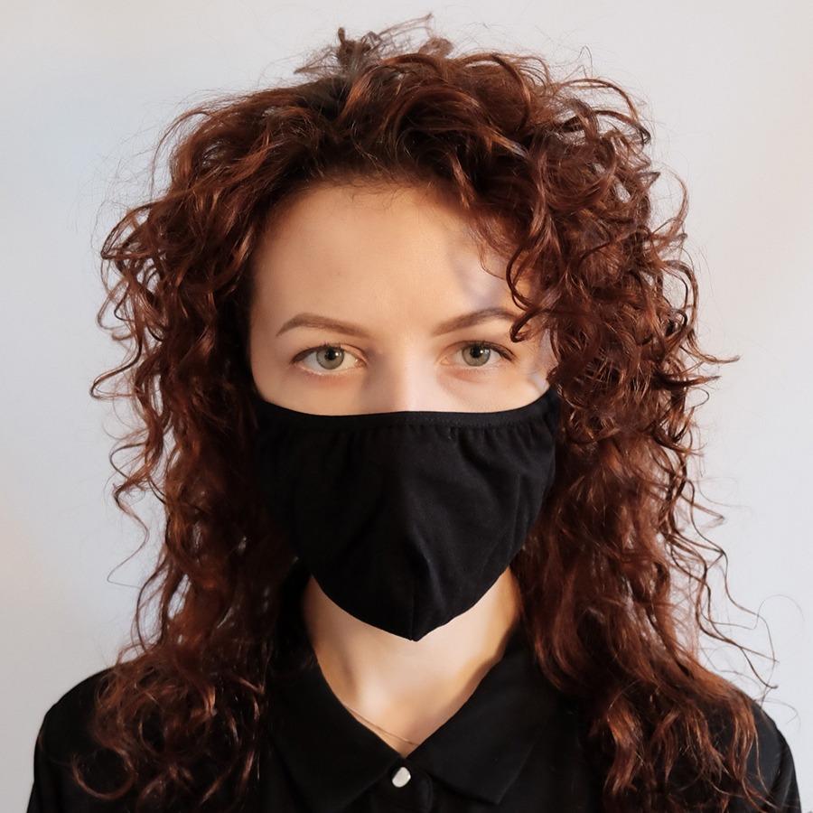 Защитная многоразовая маска для лица - однотонная