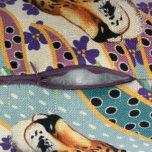 Декоративная подушка-валик с кантом